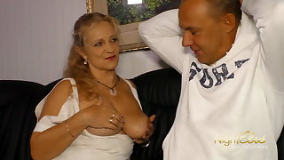 Milf alongside big boobs fuck younger man
