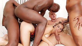 Amelie Matis Has All Holes Transgressed in a Wild BBC Gangbang