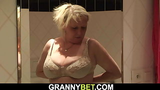 70 years old big boobs granny gets doggy-fucked