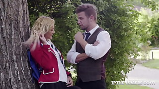 Private.com - Young Bus Girl Cherry Kiss DPd By Teachers!