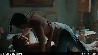 Amber Heard naked and hot erotic sheet scenes