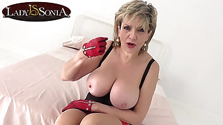 How long will you last with big tit mature Lass Sonia?