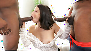 Big Ass Lasirena69 Takes 2 Big Black Cocks