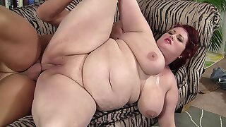 Big knocker redhead BBW gets screwed by a well hung guy