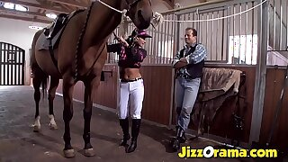 JizzOrama - Latina Tera Joy Superintend Blarney Like a Horse !