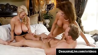 Busty Mommy Deauxma Bangs Milf Kelly Madison & Husband!