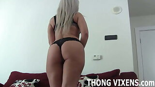 I will let you jerk wanting to me in my thong JOI