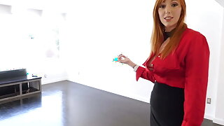 Redhead Realtor Lauren Phillips Blows A Hard Cock Correspondent to A Termagant