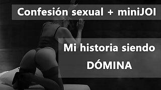 Spanish audio. Domina te cuenta su historia y te masturba.