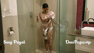 desi south indian girl young bhabhi Payal in lavatory