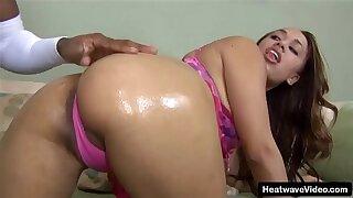 Mixed race slut girl fucks muscle black guy