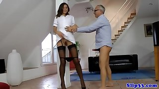 Teenage trouble oneself doggystyle drilled unconnected with experienced
