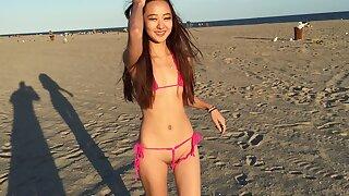 Chloe In A Super Mingy Bikini!