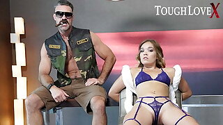 TOUGHLOVEX Katie Kush bound and ready to a duty