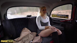 Impersonate Taxi, Blonde Brit Gina Varney Gets Fucked by Euro Cabbie