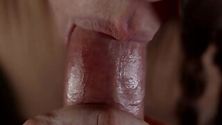 Fuck in mouth – elegant blowjob from imperceivable woman