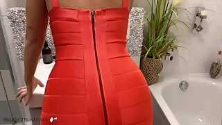 sex in tight bodycon dress compilation, projectsexdiary
