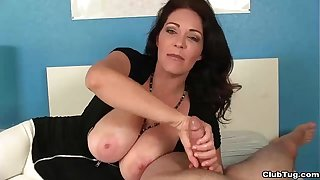 ct-Super big-titted milf jacks you withdraw