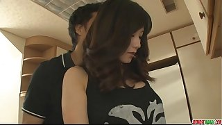 Hot milf Manami Komukai pulsate blowjob at for everyone times