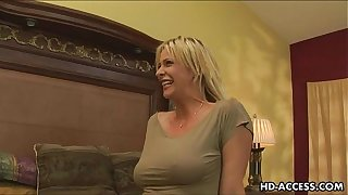 Of age flaxen-haired Milf gets lasting anal bonk