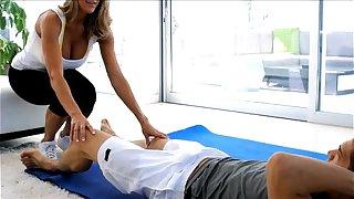 PureMature Big-titted MILF seduces their showing yoga trainer