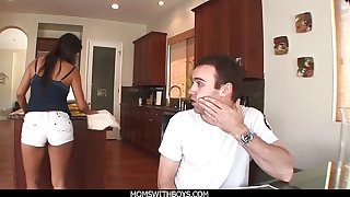MomsWithBoys - MILF Lady's maid Laurie Vargas Anal Fucks Young Weasel words