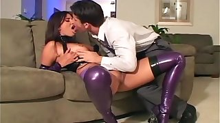 Slutty good-luck piece demoiselle fucks almost promising latex underclothing