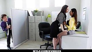 MYLF - Staff gam Blackmails increased by Fucks MYLF Brace of directors