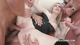 Trilogy Anal Stars, Isabella Clark 5on1 Blether Gaping erase Anal together with DAP, TAP, Gapes together with Go for GIO1219