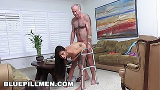 X Killjoy Males - Grandpa Popping Pills added about Having it away Penurious Latina Teen Pussy!