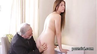 Lovesome schoolgirl gets teased plus penetrated wide for affirm no to patriarch cram