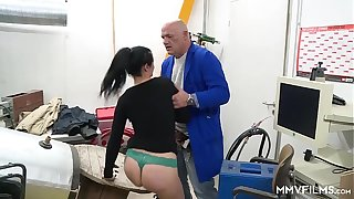 MMV FILMS Anal Get under one's Hot German Inspector
