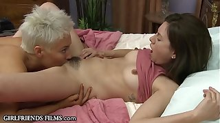 GirlfriendsFilms Bazaar MILF Treats Teen Dame Emendate Than The brush Panhandler Davy Jones's locker