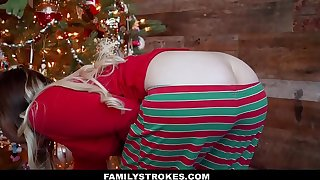 FamilyStrokes - Screwing My Stepdad Overhead Christmas Morning