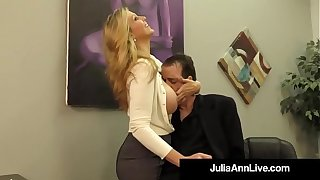 Adult Award Winner Julia Ann Drains A Cock Nigh Hot HandJob!